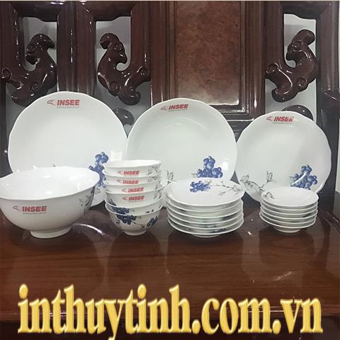 Bộ bàn ăn 22sp Mẫu Đơn IFP Việt quất