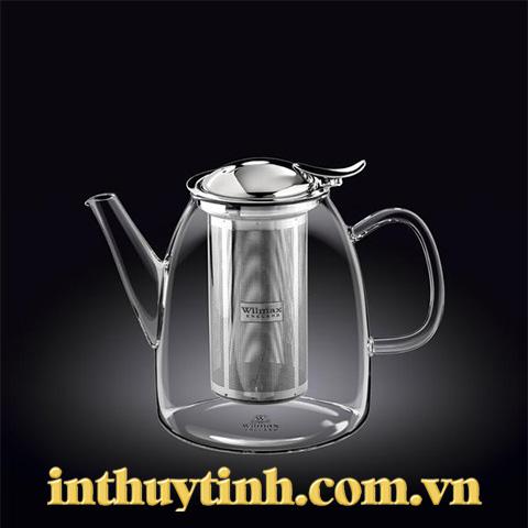 Bình trà cao 1L thủy tinh ( WILMAX)