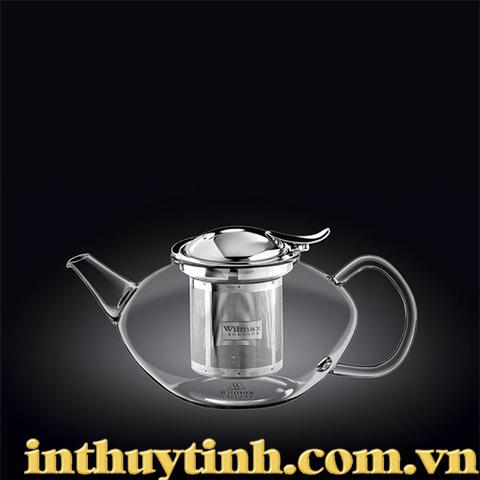 Bình trà thấp 0.65L thủy tinh( WILMAX)
