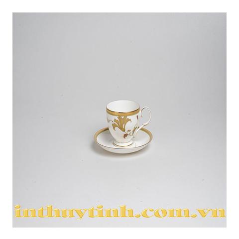 Bộ tách trà Islay Gold (có dĩa lót) Noritake
