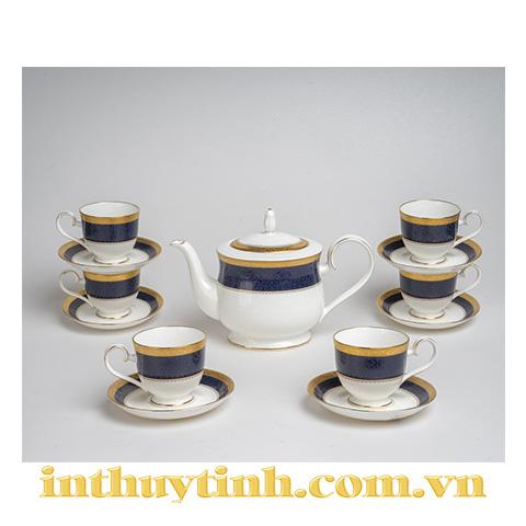 Bộ trà (13sp) Odessa Cobalt Gold Noritake