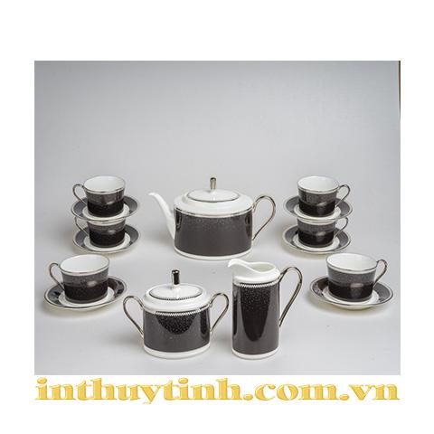 Bộ trà (15sp) Pearl Noir Noritake