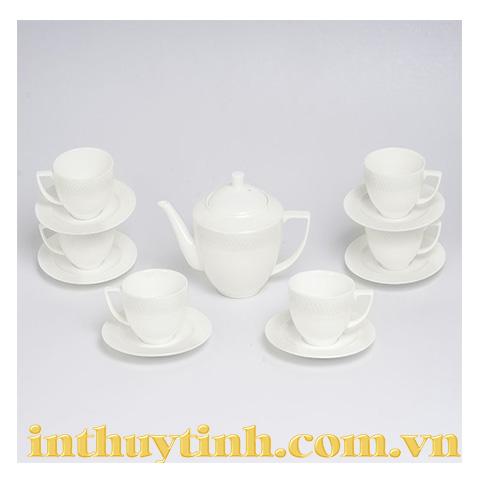 Bộ trà 13 sản phẩm Julia thấp Wilmax - England