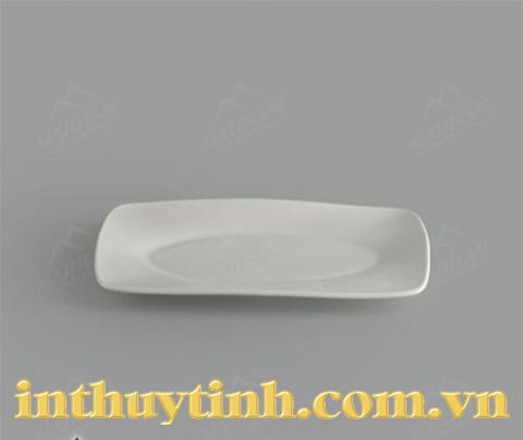 Dĩa chữ nhật oval lòng Lys Horeca Gourmet 27,5 x 19 cm